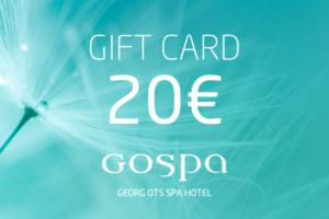 GOSPA giftcard 20eur