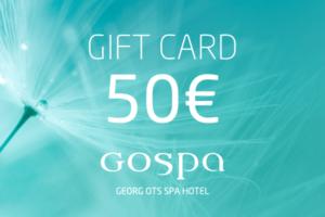 GOSPA giftcard 50eur