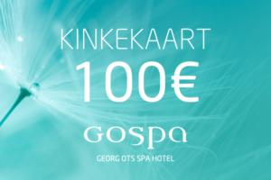 GOSPA kinkekaart 100eur